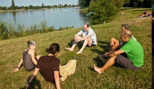 Alte Donau - Barfuss Walkshop